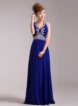 Ericdress Popular A-Line Floor-Length Halter Evening Dress