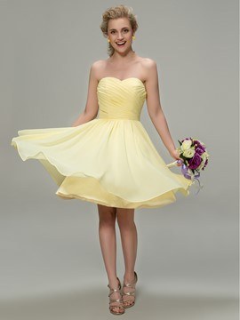 Ericdress Sweetheart A-Line Knee Length Bridesmaid Dress