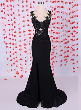 Ericdress Mysterious Appliques Side Split Formal Evening Dress