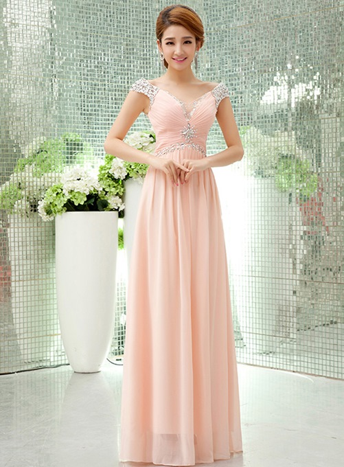 Ericdress Sweetheart Rhinestone A-Line Long Prom Dress