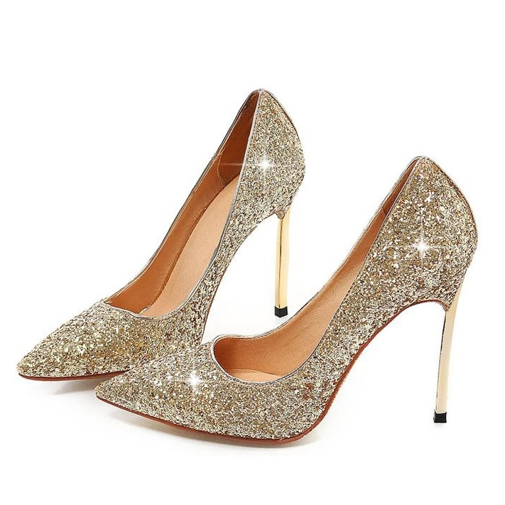 c214a308b50 Shoespie Prepossessing Shinning Stiletto Heels ...
