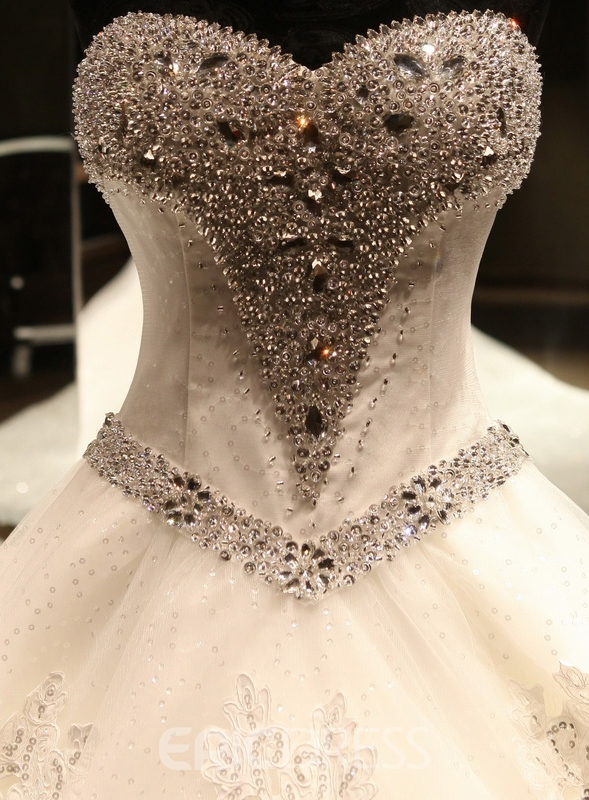 Ericdress Sweetheart Beading Wedding Dress with Cathedral Train