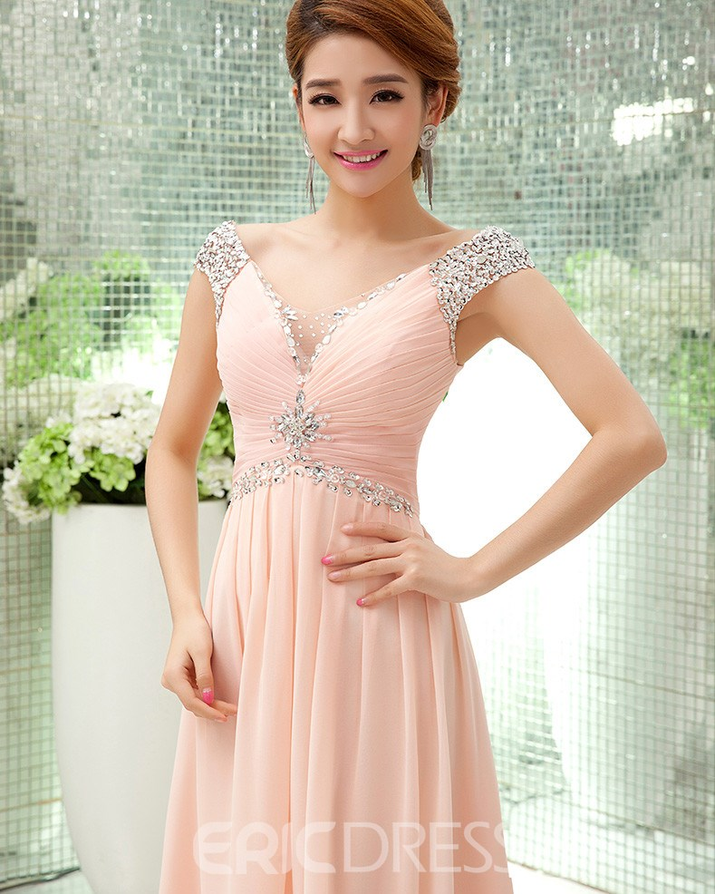 ericdress schatz strass a-line lange prom dress