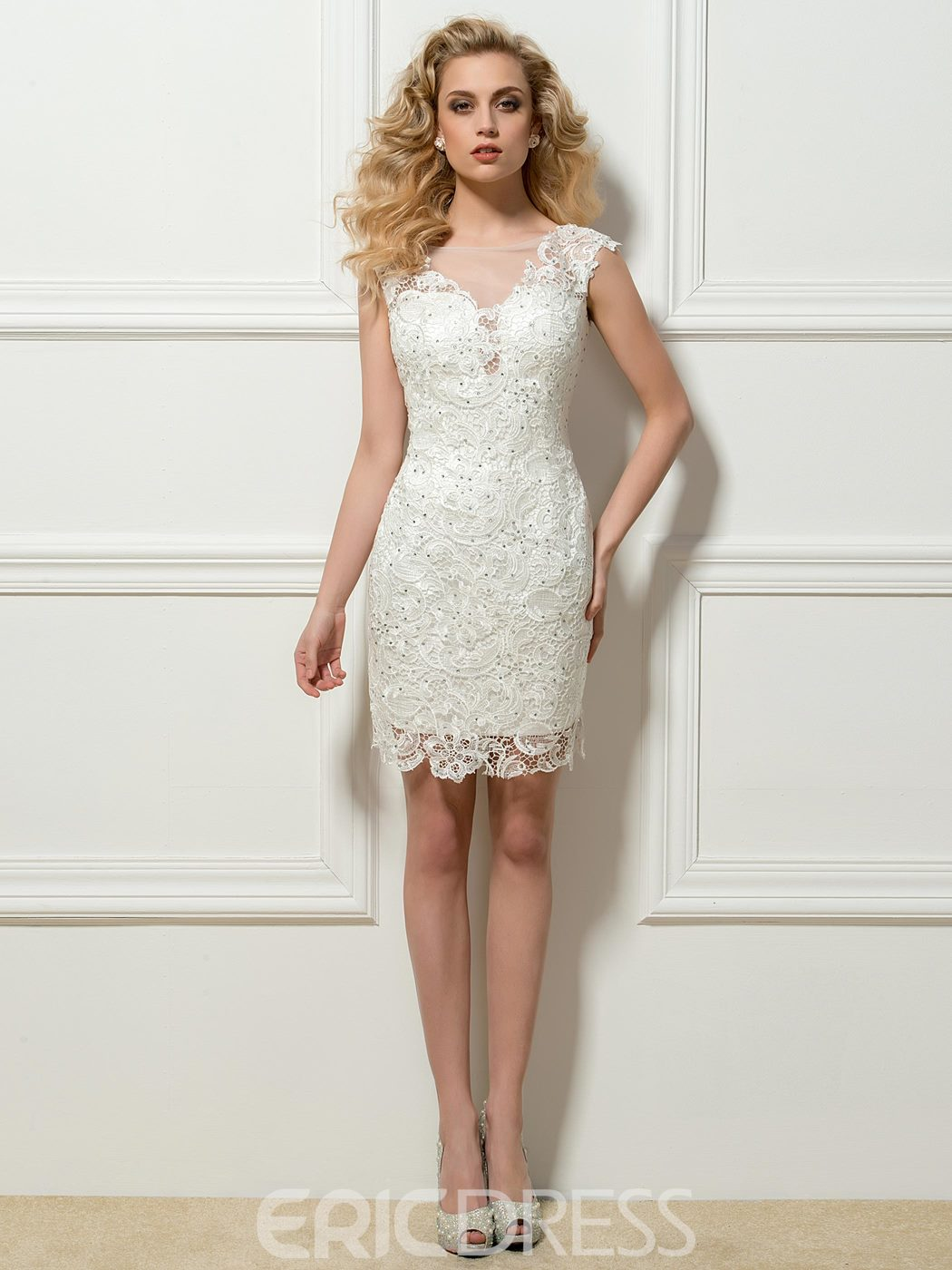 Ericdress Sheath Lace Short Cocktail Dress