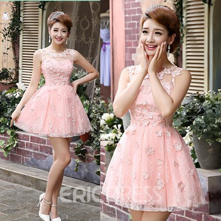 Ericdress A-Line Appliques Short Prom Dress
