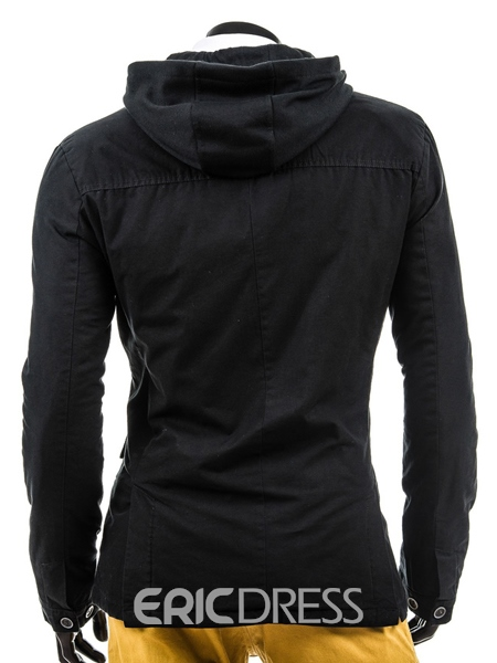 Single-Breasted Long Sleeve Hoodie