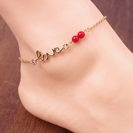 Ericdress Stylish Letter Shaped Alloy Anklet