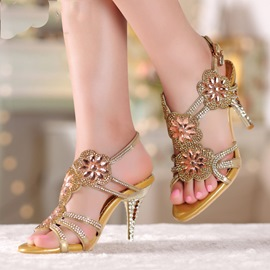 Ericdress Luxrious Crystal Rhinestone Stiletto Sandals