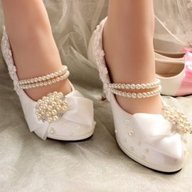 Ericdress Bow Round Toe Wedding Shoes