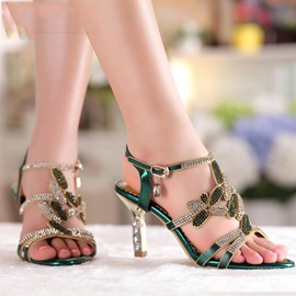 Ericdress Bohemian Luxrious Rhinestone Wedge Sandals