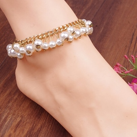 Ericdress Pearl Decorated Alloy Anklet