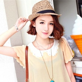 Ericdress Leisure Hollow Straw Sunhat