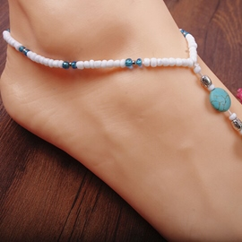 Ericdress Delicate Color Block Beaded Anklet