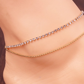 Ericdress Simple Diamante Alloy Anklet