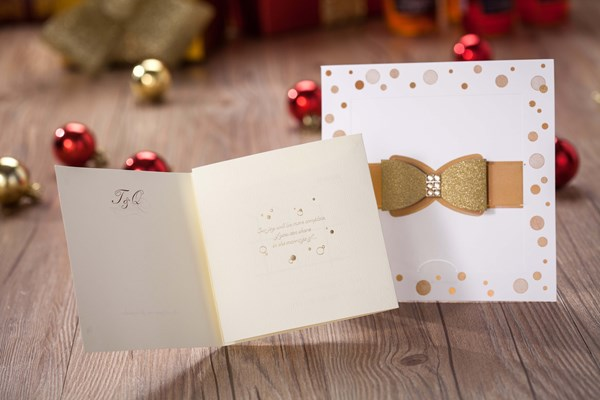 Fashion Bowknot Invitation Cards (20 Pieces One Set)