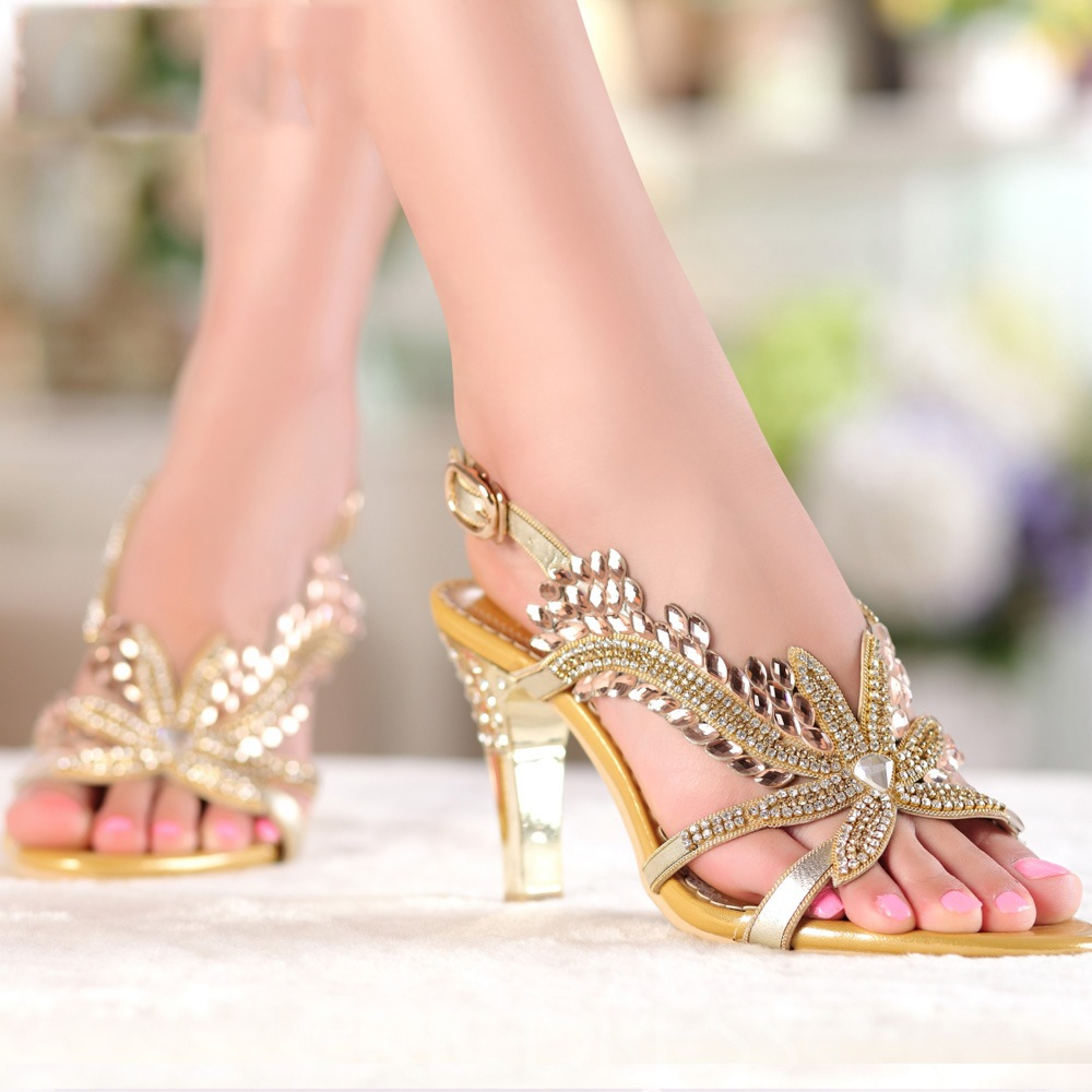 Ericdress Club Luxrious Crystal Rhinestone Stiletto Sandals