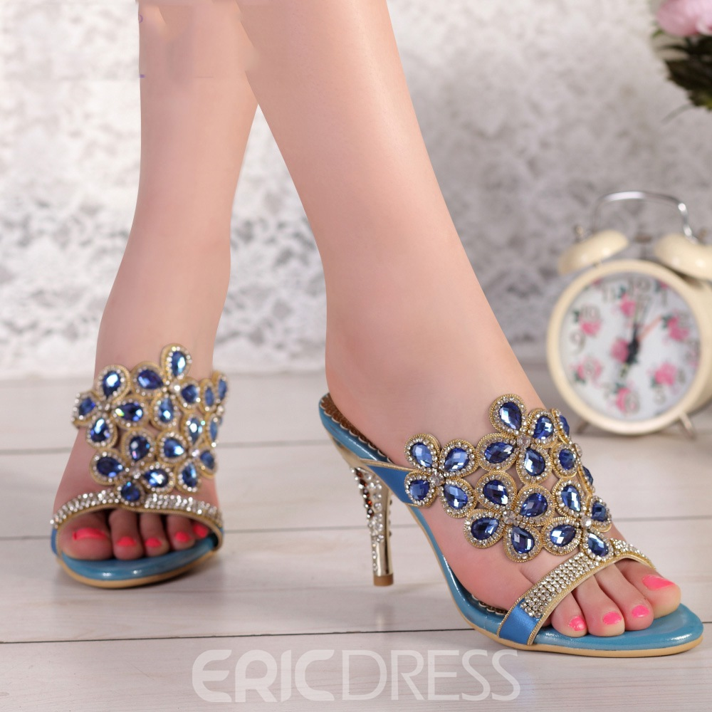 Ericdress Luxurious Rhinestone Stiletto Sandals