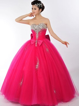 Ericdress Glorious Sweetheart Beaded Floor-Length Quinceanera Dress