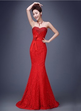 Ericdress Amazing Sweetheart Mermaid Lace Evening Dress