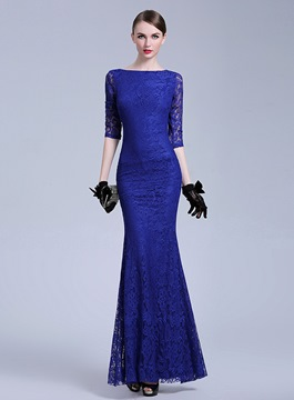 Ericdress Chic Half Sleeves Sheath Long Evening Dress