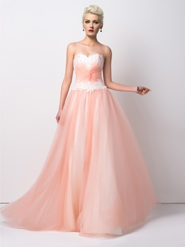 Ericdress Sparking A-Line Sweetheart Floor-Length Prom Dress