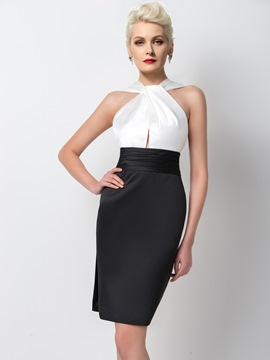 Robe de Cocktail courte Ericdress Classic gaine ruché