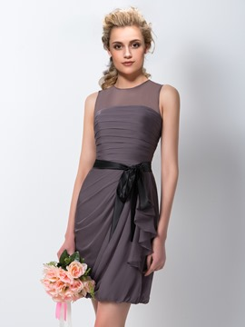 Ericdress Amzaing Sheath/Column Jewel Short Bridesmaid Dress