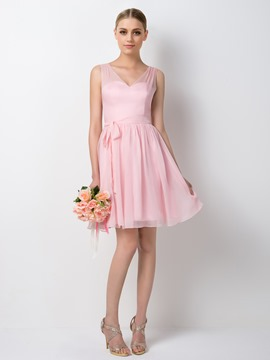 Ericdress Pretty V-Neck Short Bridesmaid Dress