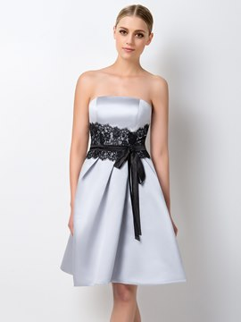 Ericdress Chic A-Line Strapless Bridesmaid Dress