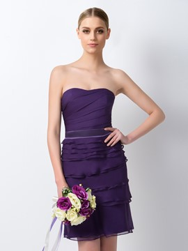Ericdress Chic Sweetheart Sheath/Column Knee Length Bridesmaid Dress