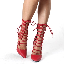 Sexy Hollow-outs Pointed-toe Stiletto Sandals