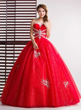 Ericdress Exquisite Sweetheart Beaded Ball Gown Quinceanera Dress