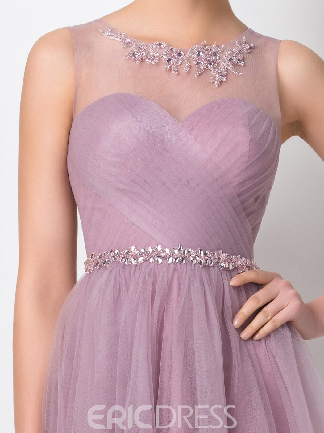 Ericdress Pretty Jewel Beading Knee Length Bridesmaid Dress