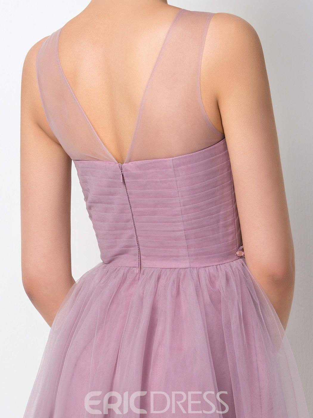 Ericdress Beading Knee Length Bridesmaid Dress