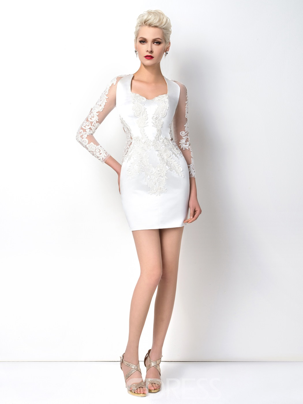Ericdress Rejuvenating Short Appliques Sheath Cocktail Dress