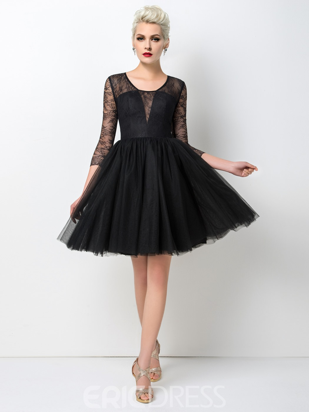 Black lace cocktail dresses