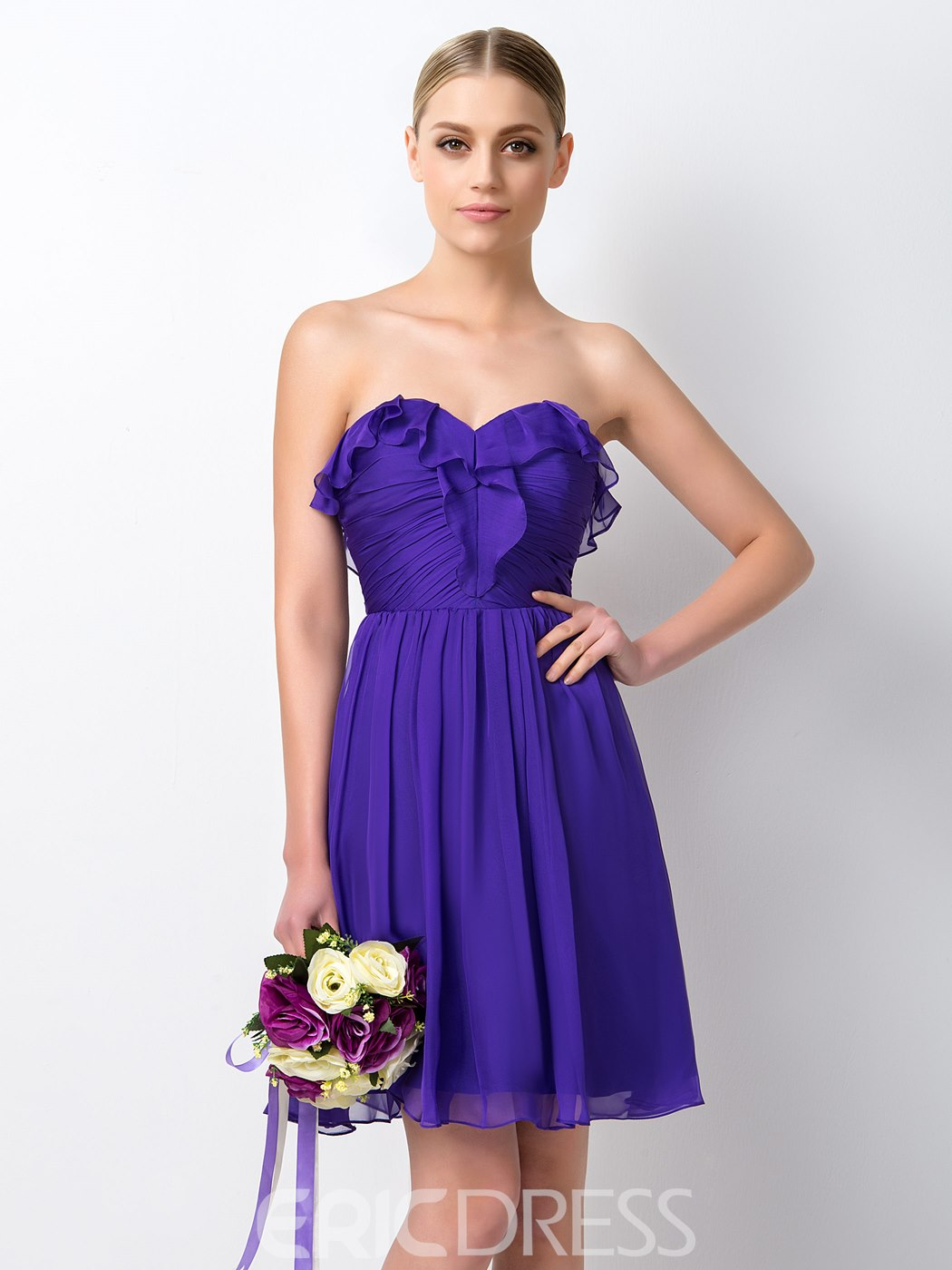 Ericdress Pretty Sweetheart Short Bridesmaid Dress