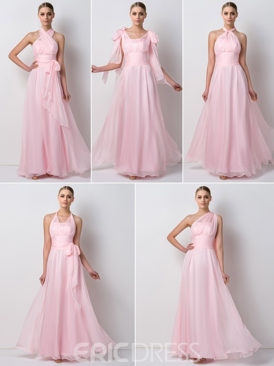 Ericdress Unique Convertible Long Bridesmaid Dress