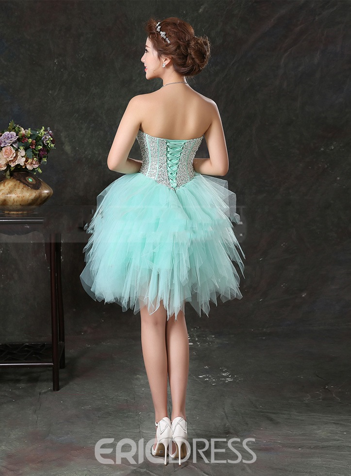 Ericdress Dramatic Sweetheart Beaded Short Homecoming Dress
