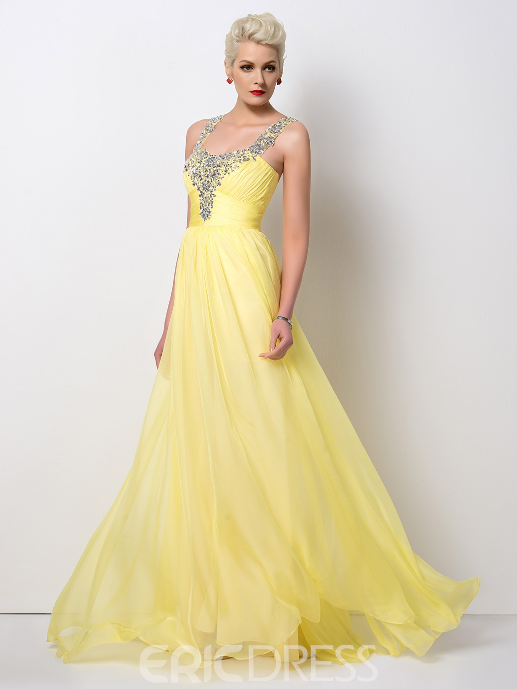 Ericdress Glittering A-Line Beaded Long Prom Dress
