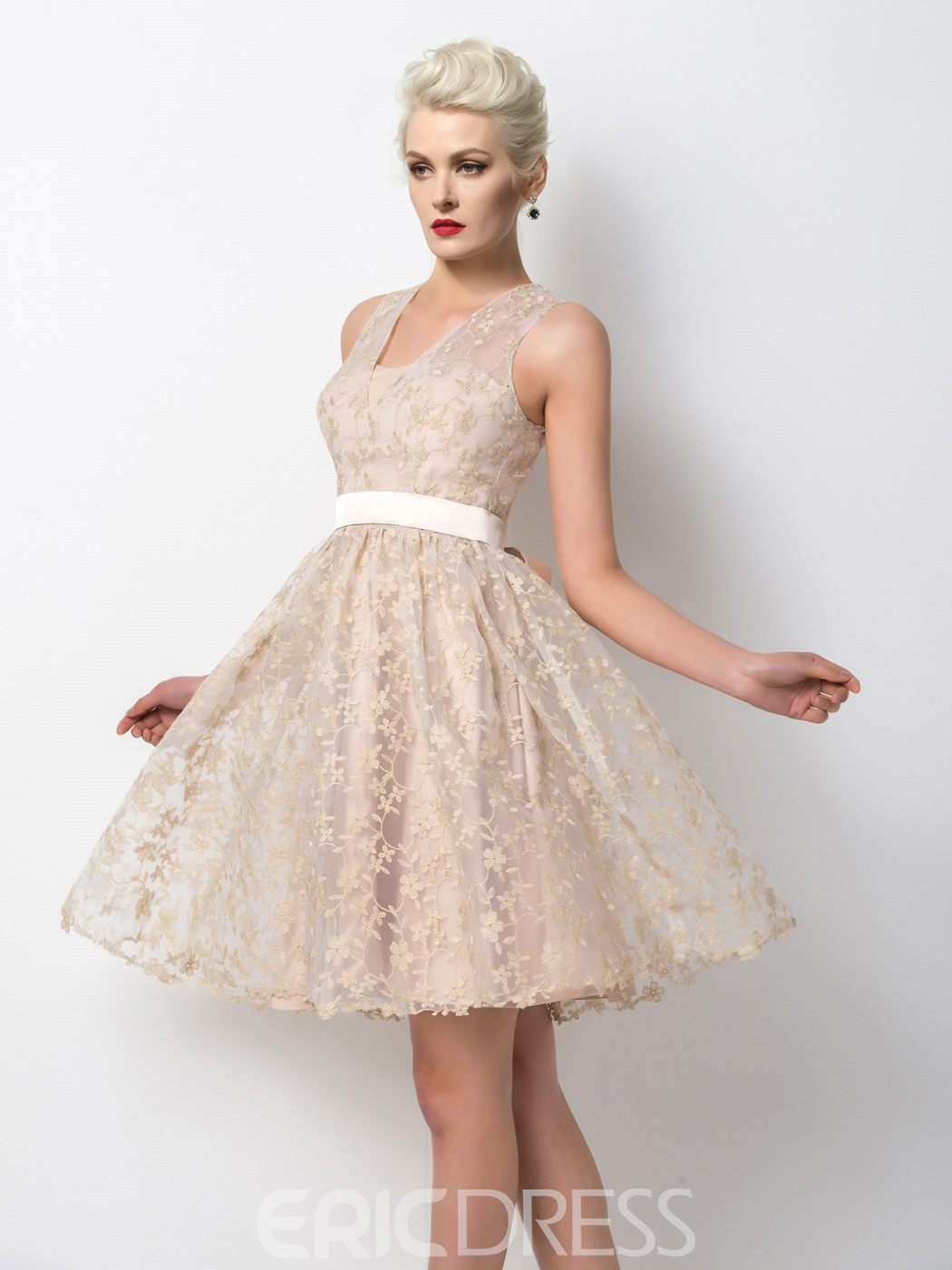 Ericdress Amazing Appliques A-Line Short Cocktail Dress