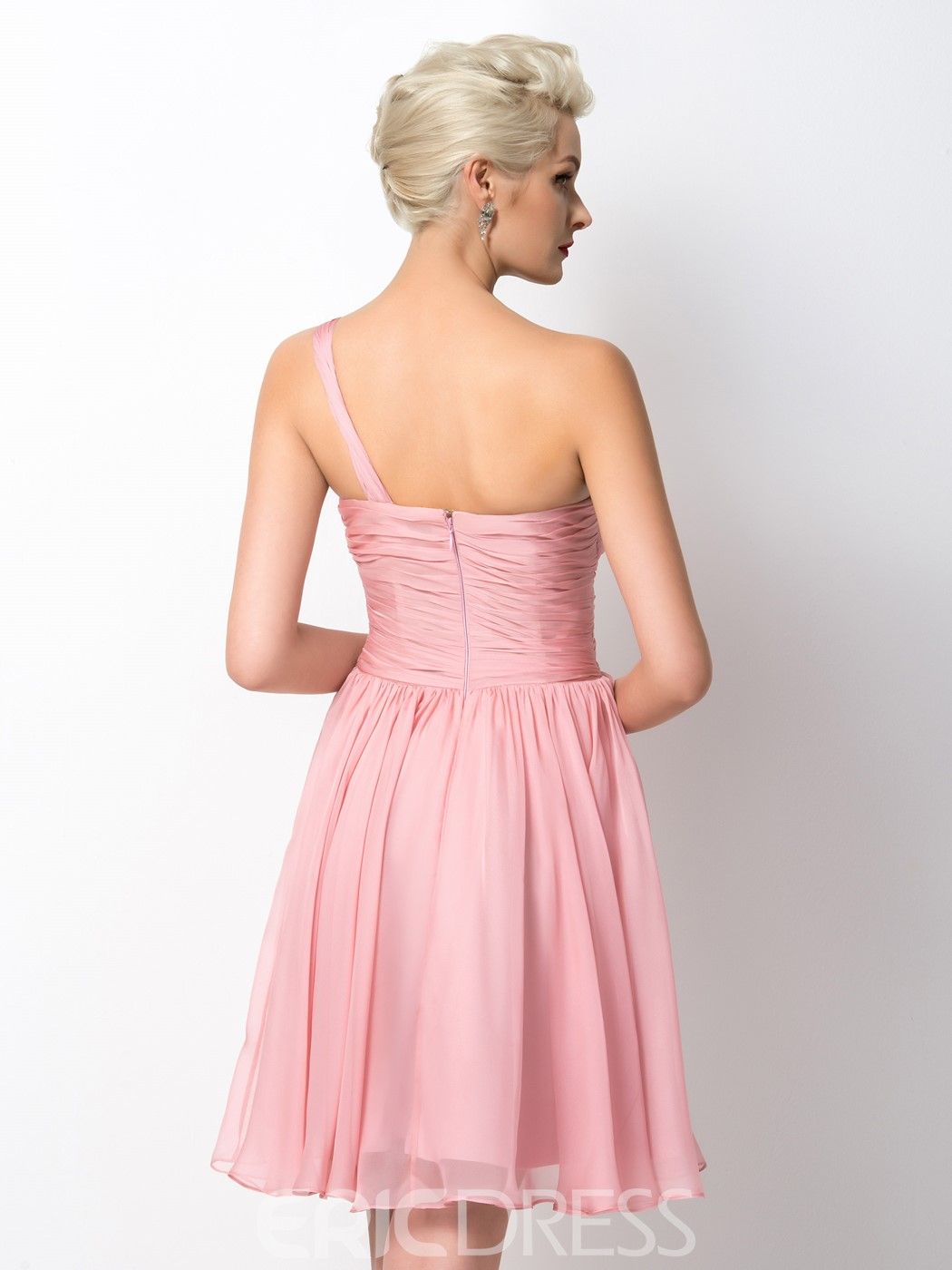 Ericdress Chic One Shoulder Short Bridesmaid Dress