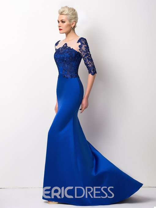Ericdress Splendid Half-Sleeve Mermaid Long Evening Dress