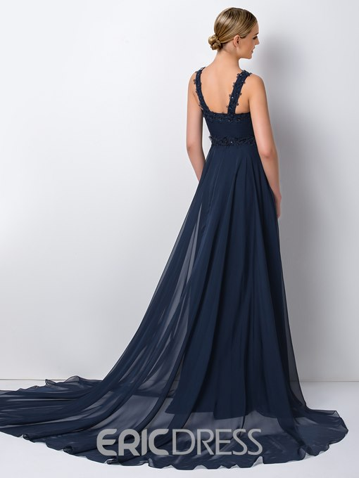 Ericdress Chic Straps A-Line Long Bridesmaid Dress