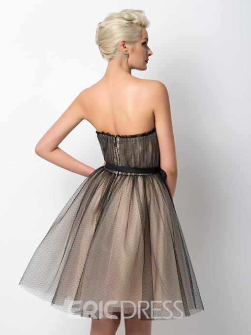Ericdress Fashionable Strapless A-Line Tulle Cocktail Dress