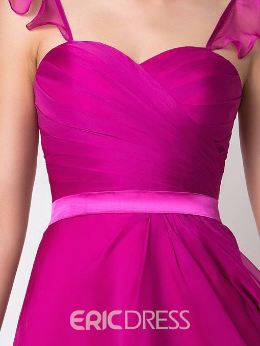 Ericdress Pretty Straps Knee Length Bridesmaid Dress