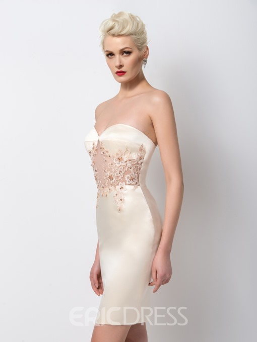 Ericdress Alluring Sheath Beaded Short Cocktail Dress