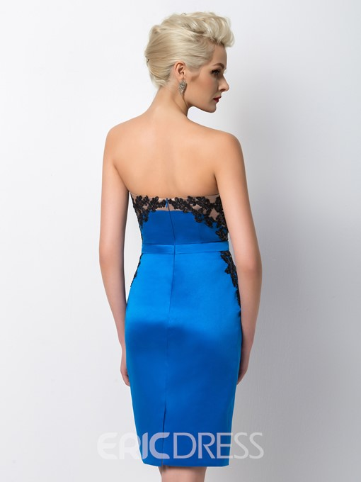Ericdress Impressive Strapless Short Sheath Cocktail Dress