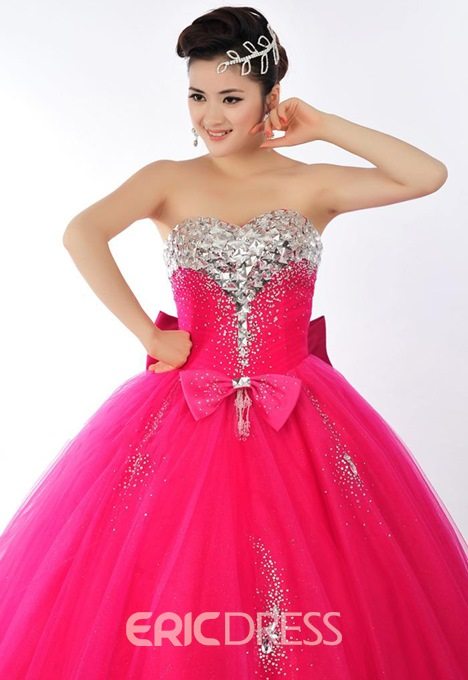 Ericdress Sweetheart Ball Quinceanera Dress With Beadings