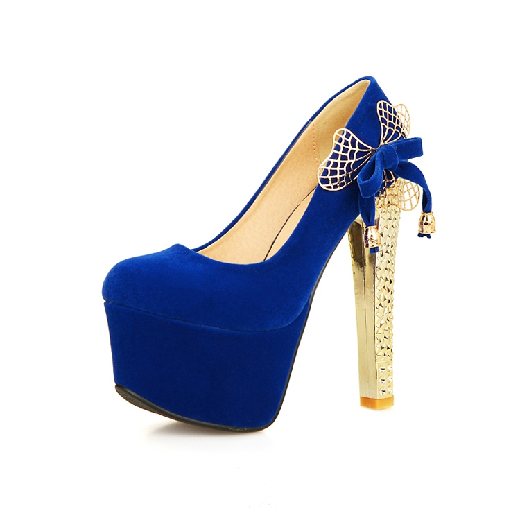 Sweet Bowknot Platform Stiletto Heel Pumps